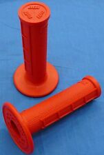 YAMAHA GRIZZLY ODI HALF WAFFLE MX GRIPS RED NEW TWIST THROTTLE BDTM