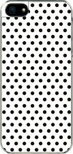 iPhone 5 Small White and Brown Polka Dot Design Sticker on Hard Case Cover