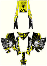 2012 and 2013 Arctic Cat Pro SNOWMOBILE SLED TOXIC GRAPHIC KIT WRAP DECALS