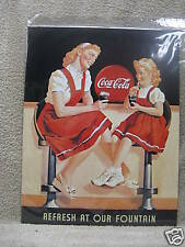 Coca Cola Coke Vintage Look Tin Metal Sign Pop Soda NEW