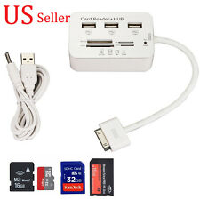 USB Hub 3 Port Micro SD TF M2 SDHC MS Card Reader Combo Adapter for iPad 2 3