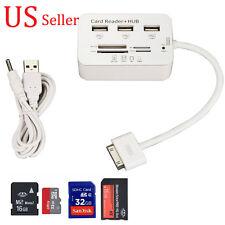 USB Hub 3 Port Micro SD TF M2 SDHC MS Card Reader Combo Adapter for iPad 2 3