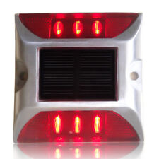 Solar Powered 6 LED Road Driveway Pathway Light Waterproof Lamp Outdoor Red