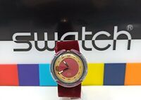 Orologio pop swatch red velvet 1991 watch vintage rare clock ref PWB 160 swatch