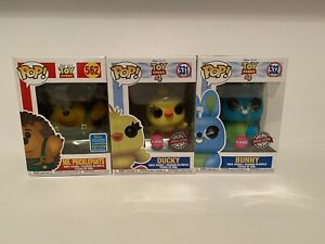Funko Pop - Toy Story - Mr Pricklepants, Bunny & Ducky - Special Editions