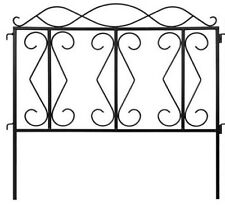Garden Fence Wrought Iron Fence Wire Patio Fencing Border Edging Barrier 24*24""