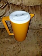 Vintage Hard Plastic Advertising Pitcher for ODELL STATE BANK, ODELL ILLINOIS