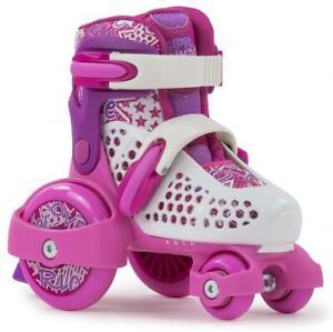 SFR Stopper Verstellbar Junior Mädchen Skates - Pink/Weiß