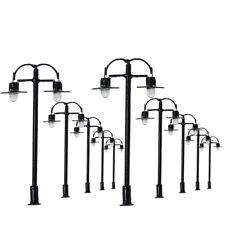 L333 10pcs Model Railway Lamppost lamp N Gauge 1:150 Street Lights 4.5cm 12V