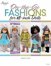 """ON the GO FASHIONS for18"""" DOLLS by Jenny King - Crochet Dresses, Coats, Hats"""