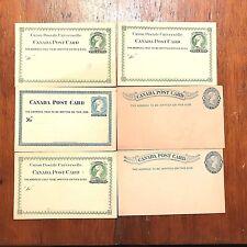 Lot of 6 Antique 1870-80's Canada Postal Cards Ex-Nmt Unused