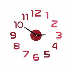 Clock Watch Wall Clocks Horloge 3d Mirror Stickers Home Decoration Living Room