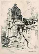 LÖWEN LOUVAIN LEUVEN St.PETER St.PIERRE  Luigi KASIMIR 1915 OriginalLithographie