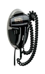 Andis 1600-Watt Quiet Wall Mounted HangUp Hair Dryer, Black (30765) 5-inch Head