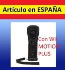 Mando Wiimote con WII MOTION PLUS para Nintendo Wii control NEGRO +Funda Silicon