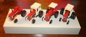 "ERTL IHC """"66"" Series Tractor 4 in Display  Box 1/64 Scale Diecast Tractors"