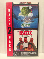 THE GRINCH JIM CARREY & THE NUTTY PROFESSOR 2 THE KLUMPS EDDIE MURPHY~VHS VIDEO