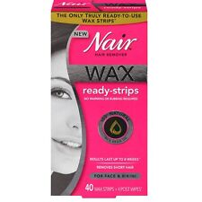 Nair Hair Remover Wax Ready Strips 40 ea (Pack of 4)