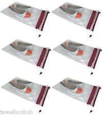 6 PCS WET CLOTH SWIM POUCH SHOE SLIPPER SANDAL FOOTWEAR TRAVEL CARRY CASE COVER