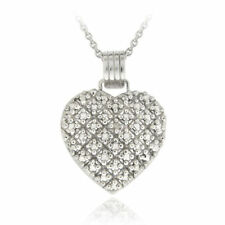 Locket Not Enhanced Sterling Silver Fine Necklaces & Pendants