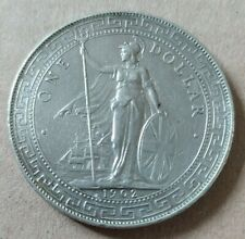 Trade dollar 1902 - Hongkong - XF / Silver - 26,92 Gr - XF-, Nice Old coin