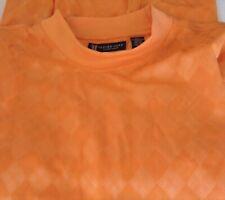 OXFORD GOLF Mens Super Dry SHIRT XXL Orange COOLMAX Golfing GOLFER