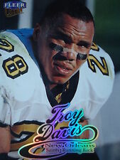 NFL 131 Troy Davis New Orleans Saints Fleer Ultra 1999
