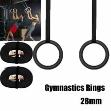 Home Wood Gymnastic Rings Gym Cross Fitness Adjustable Long Buckles Straps A+