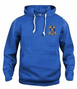 Shrewsbury Town 1970s Retro Football Hoodie Embroidered Crest S-XXXL