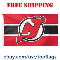Deluxe New Jersey Devils Logo Flag Banner 3x5 ft 2019 NHL Hockey Fan Gift NEW
