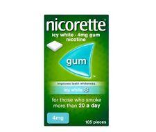 Nicorette Nicotine 4mg Sugar Free Gum Icy White - 105 Pieces (Stop Smoking Aid)