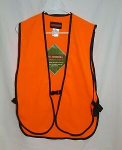 Great Outdoorsman Adult Orange Safety Hunting Vest One Size Fits All NWT