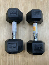 CAP 20 LB  (40lb) New Rubber Hex Dumbbell Weights Set Of 2 - Fast ⚡️⚡️Shipping