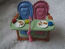 FISHER PRICE Loving Family Dollhouse TWIN HIGHCHAIR HIGH CHAIR 2.5 inch BABY