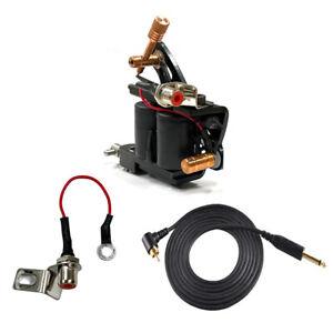 TATTOO RCA Mount Jack Converter Adapter Machine Plug Clip Cord 1/4 Phono GUN