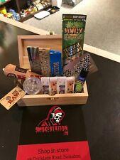 Chongz Wooden Rolling Box Medium Gift Set ,Raw,Rizla,JuicyJay,