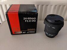 Sigma 24-60mm f2.8 Nikon Fit
