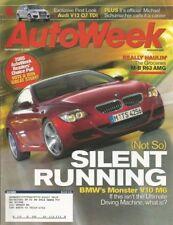 AUTOWEEK 2006 SEPT 18 - AUDI V12 Q7 TDI, M-B R63 AMG, V10 M6, '22 MARMON 34B