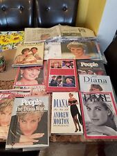 Vintage Princess Diana memorabilia Lot of 25 -  Books, Calendars, Newspaper