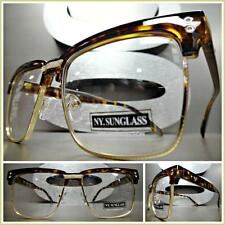 Men Women VINTAGE RETRO Style Clear Lens EYE GLASSES Tortoise Gold Fashion Frame