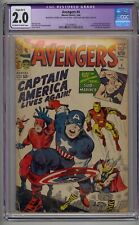AVENGERS #4 CGC 2.0 1ST SILVER AGE CAPTAIN AMERICA  LOWEST PRICE!!!