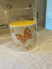 1960's Mcm George Briard Designed Signed Butterfly Ice Bucket Vinyl Lucite