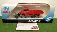 MERCEDES UNIMOG CHASSE NEIGE SAPEURS POMPIERS 1/50 SOLIDO voiture miniature coll