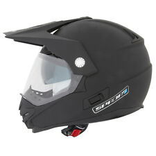 Spada Intrepid Adventure BMX Quad Motorbike Motocross Helmet Crash Matt Black XL