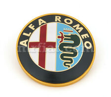 Alfa Romeo Spider Metal Front Rear Emblem 83-93 75 mm New