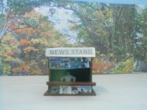 HO scale building News Stand  weather/detail
