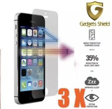 3 X Genuine Gadget Shield iPhone 5S/SE/5C Tempered Glass Screen Guard Protector