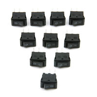 10Pcs 12V 2 Pin Car Boat Round Dot Light ON/OFF Rocker Toggle Switch Tool Black