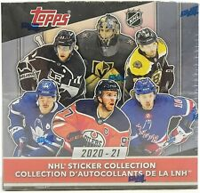 2020-21 Topps NHL Hockey Sticker Collection Box
