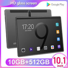 """10.1"""" 10+512GB WiFi Tablet Bluetooth Android 9.0 HD 2560 *1600 10 Core Game GPS"""